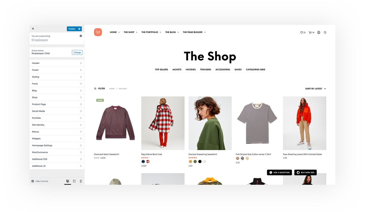 Shopkeeper - eCommerce WordPress Theme for WooCommerce - 13